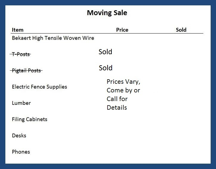 Moving sale part 2 wBorders 4-18-19
